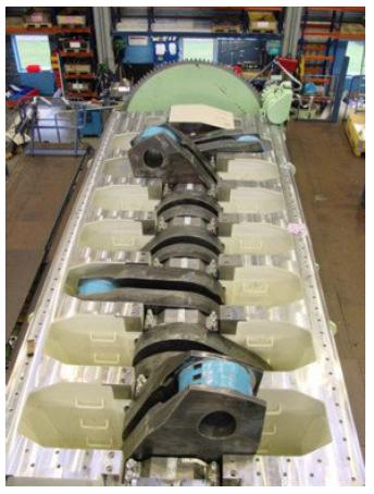 main engine bedplate